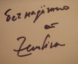 Автограф Земфиры