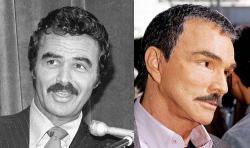 Берт Рейнолдс в 1980 году и 2005 году