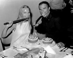"""Барбара Лоден и Берт Рейнолдс на съемках фильма """"Fade-In"""", 1967 год"""