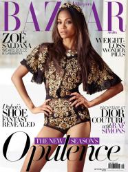 Зои Салдана на страницах Harper's Bazaar Arabia