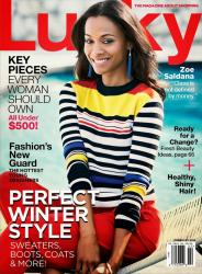 Зои Салдана для Lucky Magazine, февраль 2014