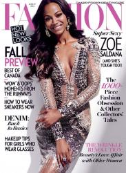 Зои Салдана для Fashion Magazine, август 2014