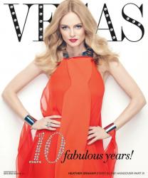 Хизер Грэм для обложки Vegas magazine Май-Июнь