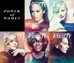 """Сила женщин"" спецпроэкт журнала Variety, октябрь 2014"