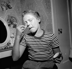 Кристофер Уокен в образе клоуна, 1955 год