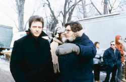 """Кристофер Уокен и Дэвид Кроненберг на съемках фильма """"Мертвая зона"""", 1983 год"""