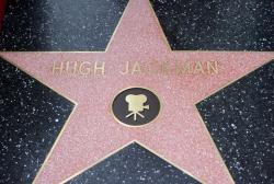 Звезда Хью Джекмана на Аллее славы в Голливуде
