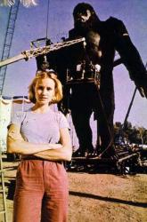 """Джессика Лэнг на съемках фильма """"Кинг-Конг"""", 1976 год"""