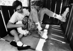 Джим Керри с дочкой, 1991 год