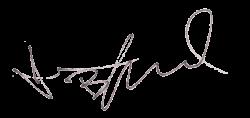 Автограф Джесси Брэдфорда