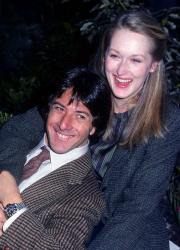 """Дастин Хоффман и Мерил Стрип на съемках картины """"Крамер против Крамера"""", 1979 год"""