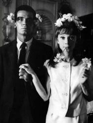 """Джеймс Гарнер и Одри Хепберн на съемках фильма """"Детский час"""", 1961 год"""