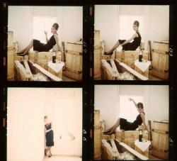 "Одри Хепберн на съемках фильма ""Завтрак у Тиффани"", 1961 год"
