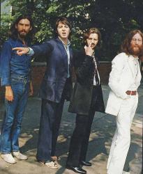 "The Beatles перед съемками легендарной обложки для альбома ""Abbey Road"", 1969 год"