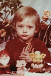 Саша Пивоварова в детстве