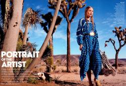 Саша Пивоварова для Vogue USA, февраль 2014
