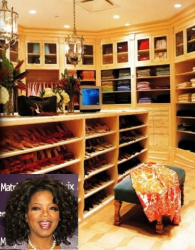 Просторная и светлая гардеробная комната Опры Уинфри