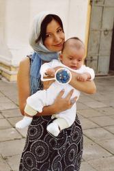 Ольга Орлова с сынишкой
