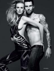 Анна Вьялицына и Адам Левин в фотосессии для «Vogue»