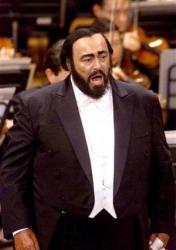 Лучано Паваротти на сцене