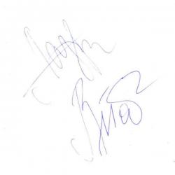 Автограф Сергея Лазарева